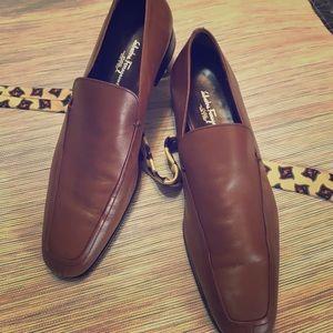 Ferragamo Leather Slip-on Shoes - 10